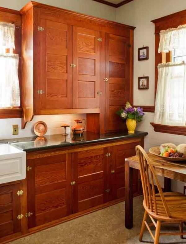 Image Detail For  Restored Cabinets In A Renovated Craftsman Kitchen    Old House Online Looks Like The Cabinet Doors Left In The Basement.