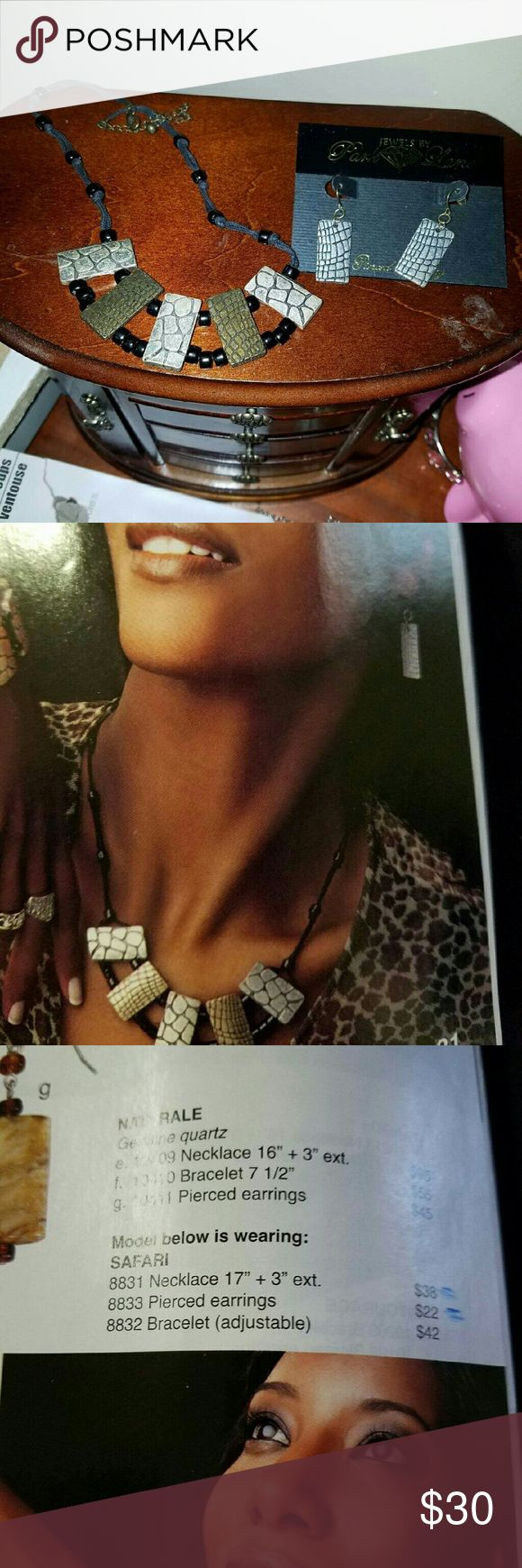 Necklace and earings Safari style. Park Lane Jewelry