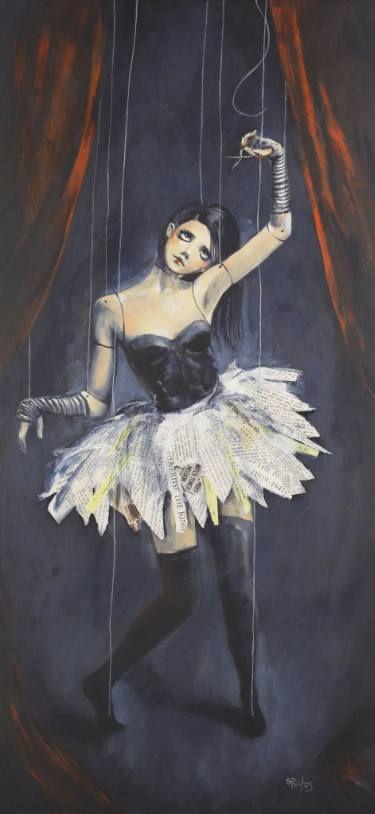 """Advertise Advertise Advertise""  #art #puppet #doll #ballerina #exjw"