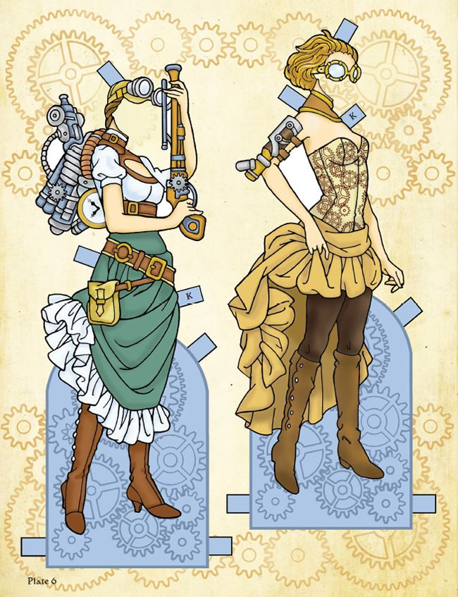 Welcome to Dover Publications  Steampunk Vixens Paper Dolls