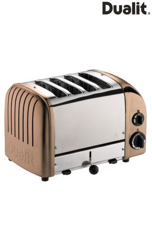 Dualit Polished Stainless Steel And Copper 4 Slot Toaster from Next