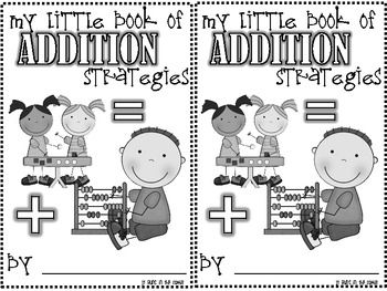 My Little Book of Addition Strategies - FREE on TPT