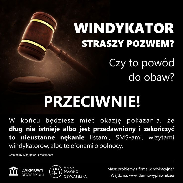 Skierowanie przez firmę windykacyjną sprawy na drogę sądową, to często najlepszy sposób na ostateczne uwolnienie się od długu. Pozew o zapłatę wcale nie oznacza, że sprawa jest już przegrana. Wręcz przeciwnie! --- Prawo, Radca prawny, Adwokat, Dług, Nakaz zapłaty, Sprzeciw od nakazu zapłaty, Windykacja, Bank, Finanse, Kredyt, Komornik, Windykator, Prawo Cywilne, Darmowy Prawnik, Egzekucja komornicza, Sądowy nakaz zapłaty.