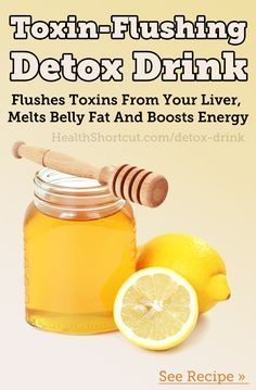 Here's the simple recipe for my favorite detox drink:  10 oz. Water 1 tbsp. Honey 2 tbsp Lemon Juice 1/4 tsp. Turmeric.