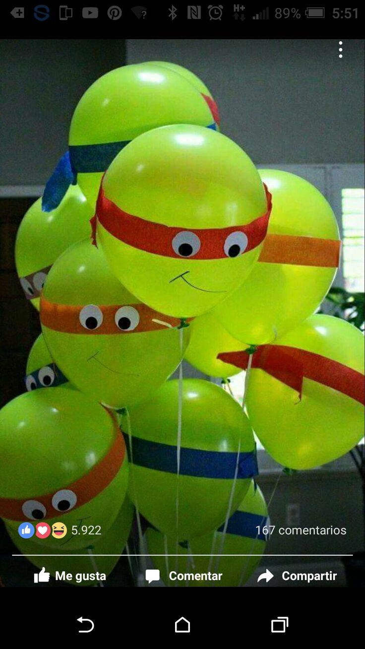 Turtles balloons