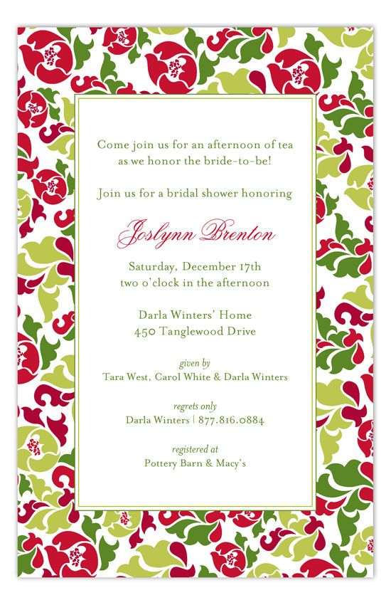 Festive Floral Invitation