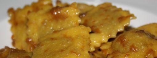 Ravioli di carne con brasato di chianina