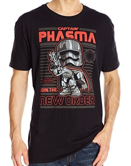 Funko Pop! Star Wars Captain Phasma Join the New Order T-Shirt (affiliate link)