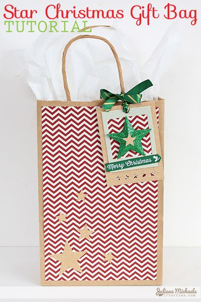 Learn how to dress up a plain kraft paper gift bag