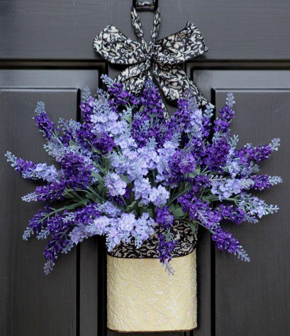 Summer Wreath - Wreaths - Home Decor -Country Cottage - Lavendar Flow…
