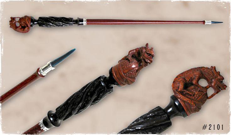 Netsuke dragon bloodwood sorcerer magic wand stuff to for Wand designs