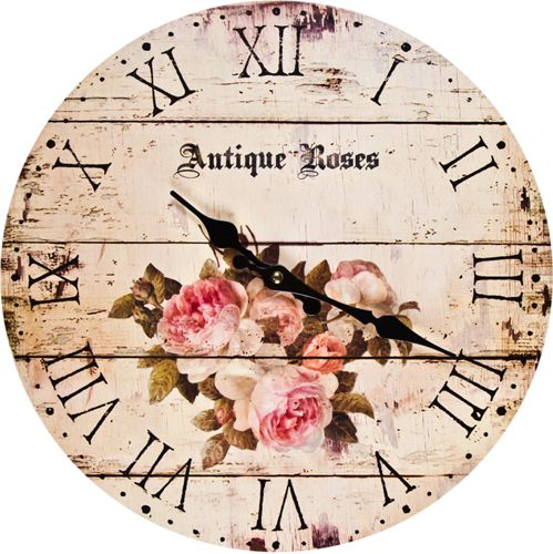 Antique rose clock face