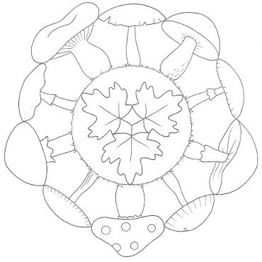 Mandala autunno fungo