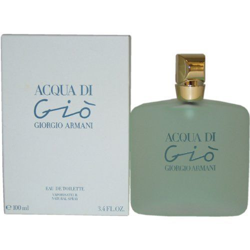 Acqua Di Gio By Giorgio Armani For Women. Eau De Toilette Spray 3.4 Ounces by Giorgio Armani. $64.99. Packaging for this product may vary from that shown in the image above. This item is not for sale in Catalina Island. Introduced in 1995. Fragrance notes: fresh floral, sweet pea and the fragrance of jasmine in a feminine scent. Recommended use: daytime.When applying any fragrance please consider that there are several factors which can affect the natural smell o...