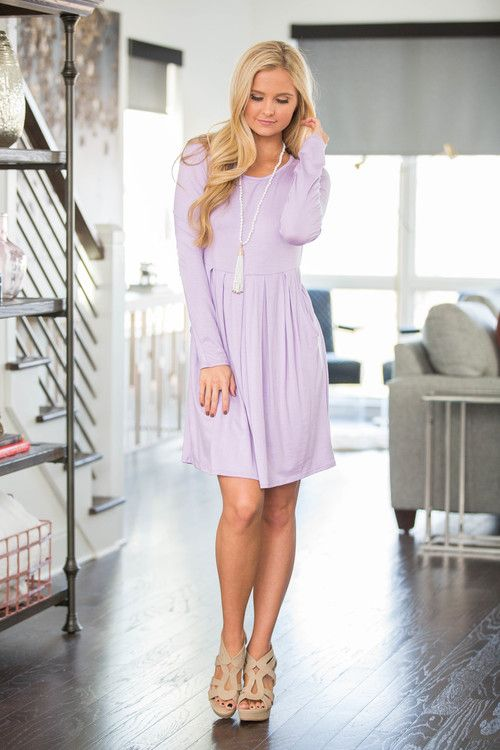 Save Me A Dance Dress Lavender - The Pink Lily