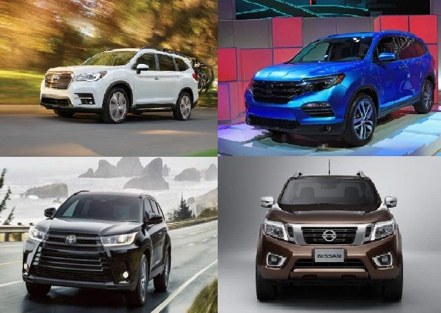 The new 2019 Subaru Ascent will cost from $32,000. Although it is a new vehicle, it ranks pretty expensively right from the start. The 2019 Toyota Highlander will cost slightly over this mark. Honda Pilot and Nissan Pathfinder will remain just shy of this mark in a new season.