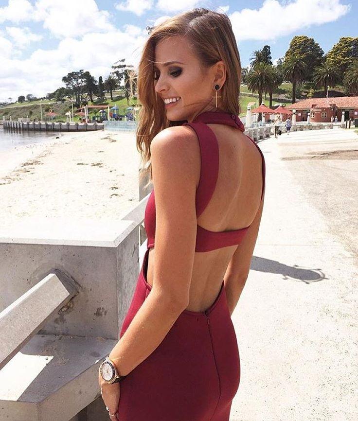 Brittany Davis.. MOSSMAN dress..
