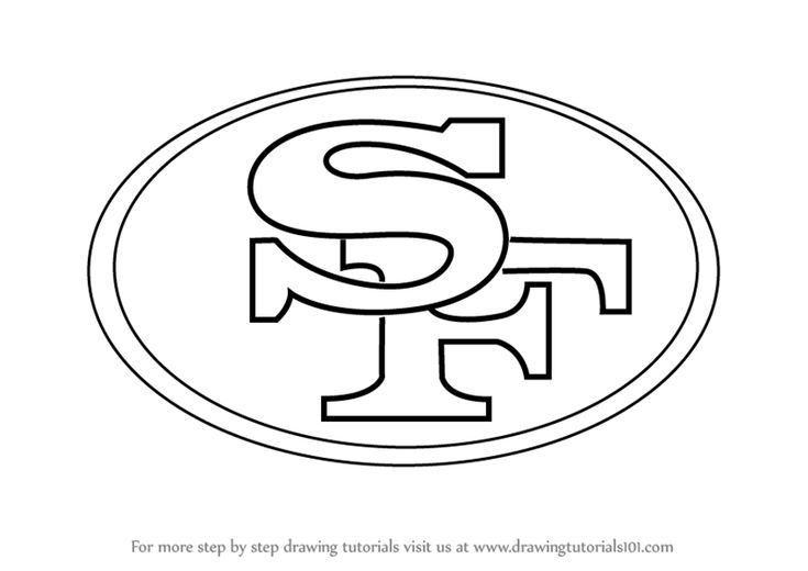 learn how to draw san francisco 49ers logo (nfl) step
