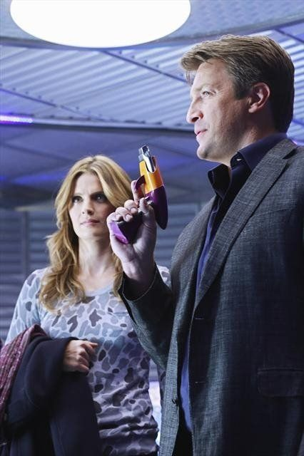 Still of Nathan Fillion and Stana Katic in Castle