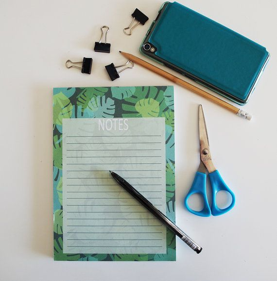 Bloc notes avec motif vert de feuillages notes book par alexiableu, idée cadeau, cadeau petit prix, cadeau moins de 10 euros, cadeau soeur, cadeau collègue, cadeau voisin, cadeau ami