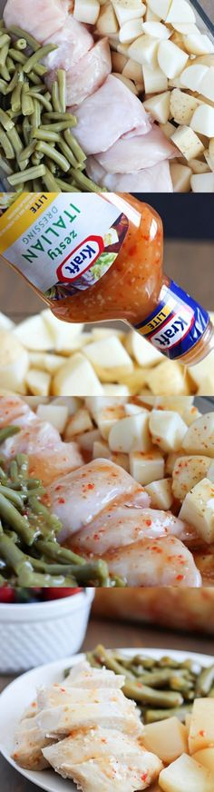 Easy Baked Italian Chicken, Potatoes & Green Beans - dinner the whole family will love!