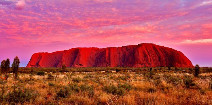 Uluru Australia  http://placesuwant2visit.blogspot.com/