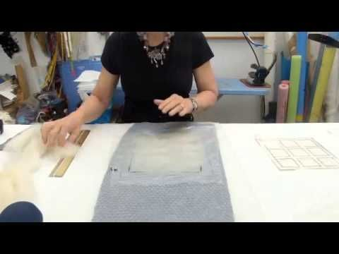 Cracked Mud  Wet Felting Technique