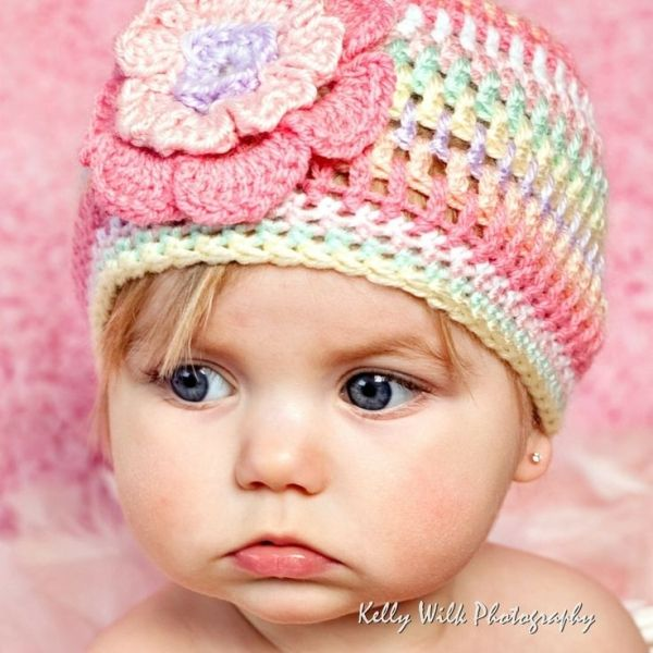 Elizabeth Crochet Hat Pattern For Child : 25+ best ideas about Crocheted baby hats on Pinterest ...