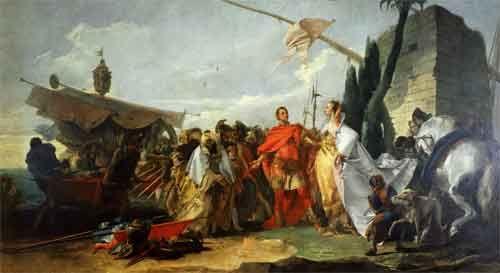 Дж.Б.Тьеполо. Встреча Антония и Клеопатры. 1747. Холст, масло. ГМУА