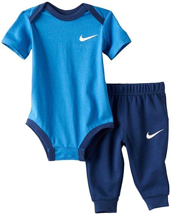 4ea40ed609783 Amazon.com: Nike Baby Boy Bodysuit & Pants 2 Piece Set: Clothing ...