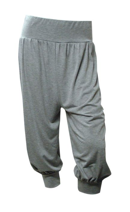 Grey Cropped Harem Trousers