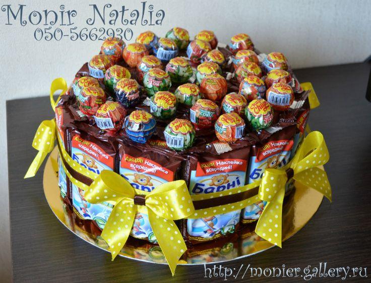 Gallery.ru / Фото #127 - Тортики из конфет - monier