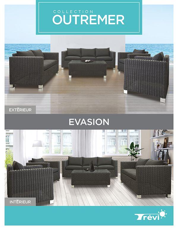 L'ensemble Évasion, vous offre un look raffiné avec son tressé luxueux et haut de gamme. Robuste et confortable avec ses accoudoirs, ce mobilier de jardin vous offrira la possibilité de varier et combler l'espace détente que vous rêviez de créer dans votre cour.