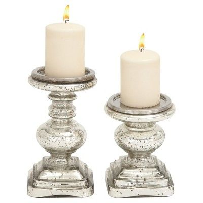 Traditional Candle Holder Set 2ct - Olivia & May at Target. Affiliate link.