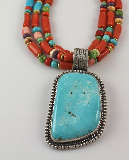 Coral+And+Turquoise+Necklace