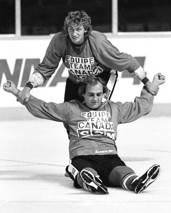 Wayne Gretzky & Guy Lafleur