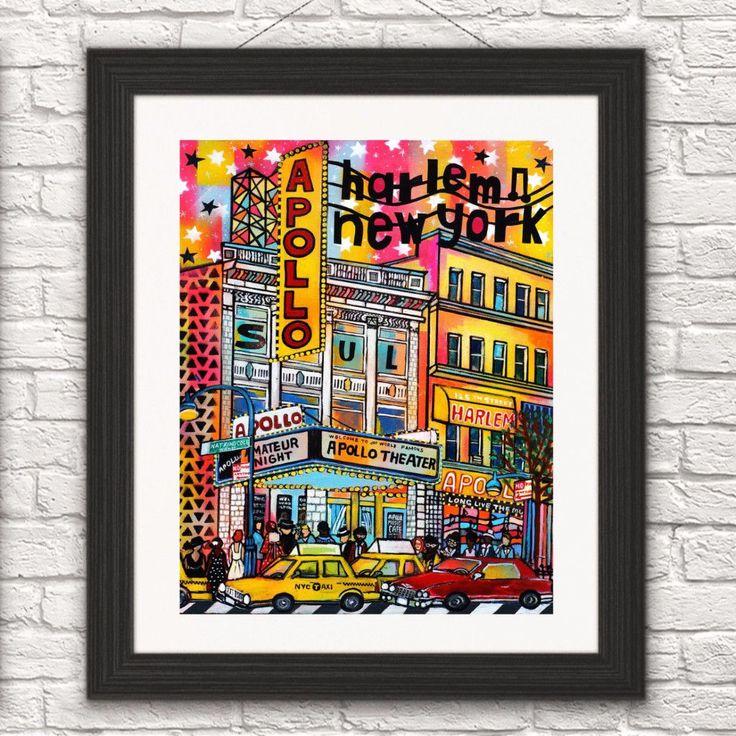 Harlem Apollo Theater #harlemart. #apollotheater #harlem #apollotheaterprint #apolloart