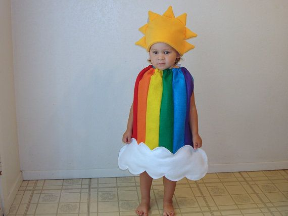 Kids Halloween Costume Childrens Costume Rainbow by TheCostumeCafe
