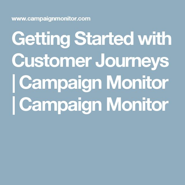 Getting Started with Customer Journeys | Campaign Monitor | Campaign Monitor