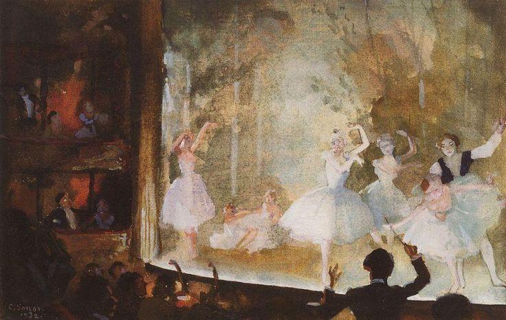 Русский балет. Елисейские поля. Сильфиды. 1932. Сомов Константин Андреевич (1869-1939)