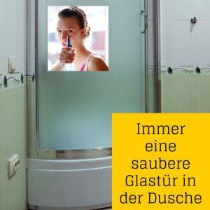Duschwand putzen