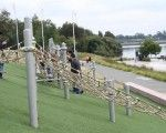 Blaxland Riverside Park Play space, Sydney Olympic Park | Playrope Playground Equipment Australia