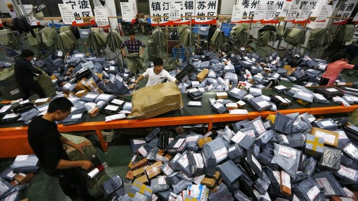 China's Alibaba breaks Singles Day record as sales surge 11.11.15 - E-commerce giant Alibaba has broken its own record for sales on China's Singles Day, the world's biggest online shopping event.