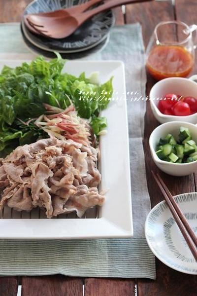 お好み豚しゃぶサラダと、セミドライトマト。 by 柳川かおりさん ...