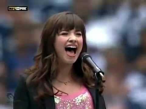 Demi Lovato Singing The National Anthem - November 27 - Cowboys vs Seahawks: Best or Worst?