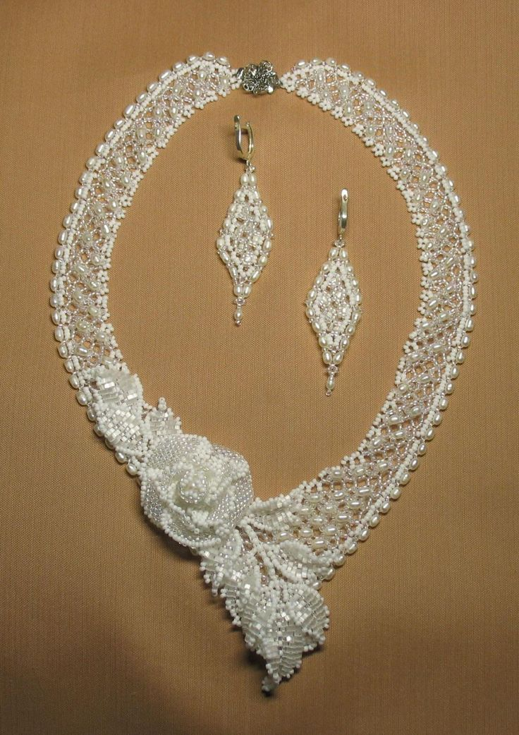 I'm not always drawn to beaded necklaces but this one is pretty .