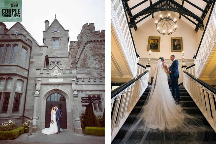 Two epic photos of the newlyweds. Weddings at Clontarf Castle Hotel by Couple Photography.