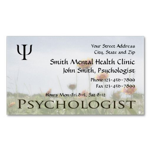 Mejores 183 Imagenes De Mental Health Counselor Business Cards En
