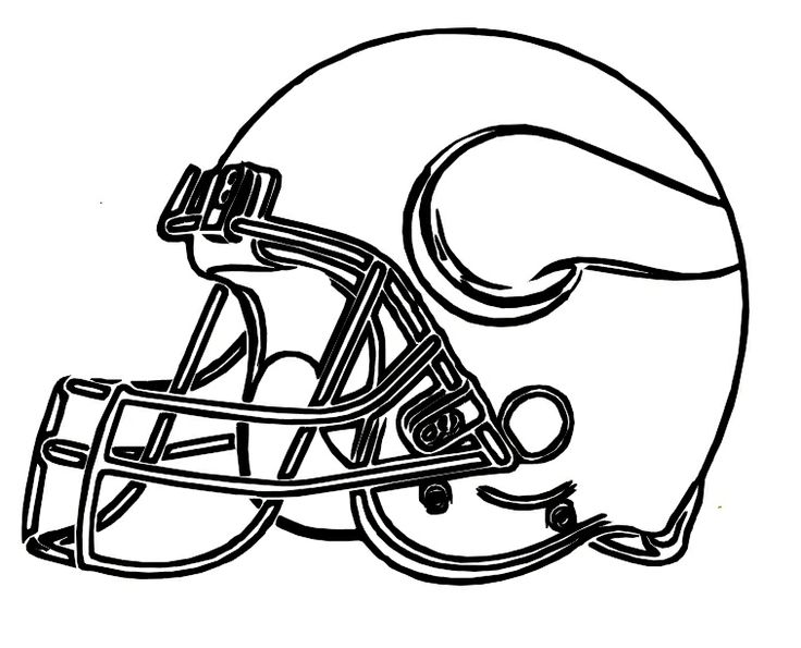 Pictures Football Helmet Vikings Minnesota Coloring Pages