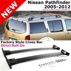 Nissan Pathfinder 05-12 Black Roof Top Rack Rail Cross Bar Luggage Carrier 2PCS